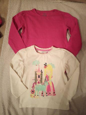 TU Kiki&Koko zestaw bluzeczki 98 104 różowa ecru bdb