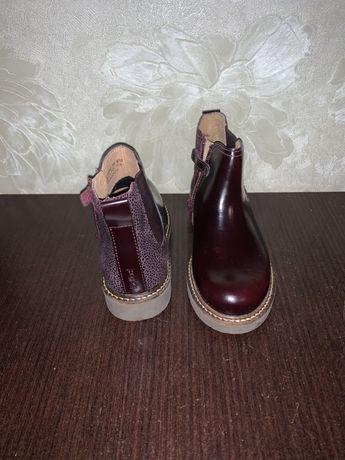 Челси, кожанные ботинки на девочку