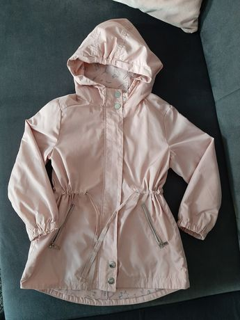 Reserved kurtka parka płaszczyk róż 110cm ortalion przeciwdeszczowa
