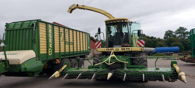 Koszenie kukurydzy + transport + pryzmowanie
