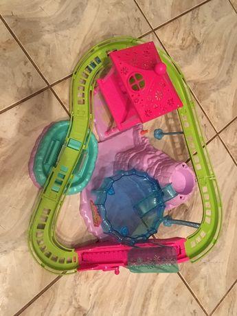 Zabawka Domek Polly Pocket Roller Coaster Basen Kolejka Wodna Zestaw