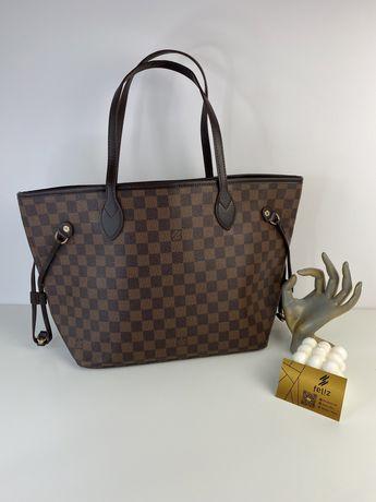 Torebka damska shopperka Louis Vuitton Neverfull premium Damier Ebene