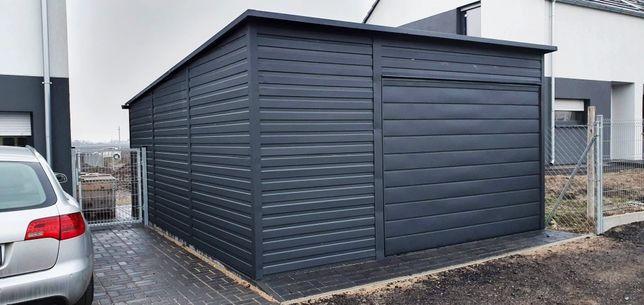 4x6 Garaż blaszany Garaże WZMOCNIONE antracyt grafit