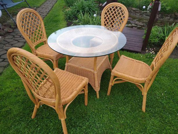 Meble Komplet Ogrodowy Stół + 4 Krzesła