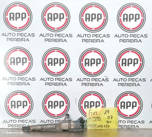 Injetores Fiat Alfa Opel 1.9 MJET de 120 CV referência 0445110187.