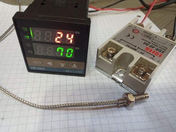 Controlador e sonda de temperatura