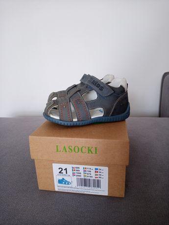 Sandały skórzane chłopięce dziecięce rozm. 21 buty dziecięce sandałki