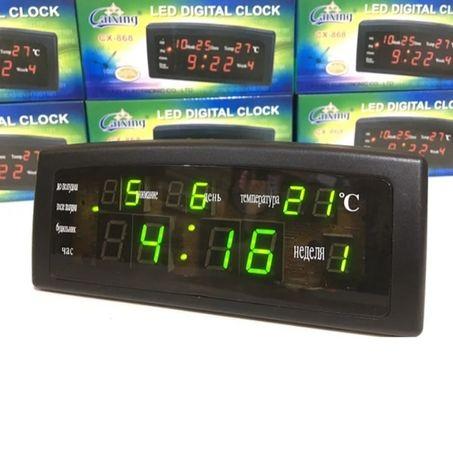 Настольные электроные часы с будильником VST-868