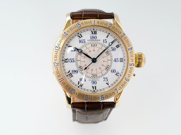 Мужские бу часы Longines Heritage Lindbergh 18K Gold 47,5 мм