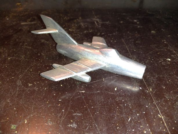 Samolot aluminiowy zabawka