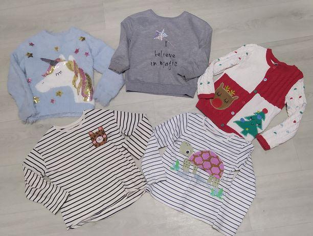 Пакет свитер, свитшот, реглан next, h&m на 5-6 лет