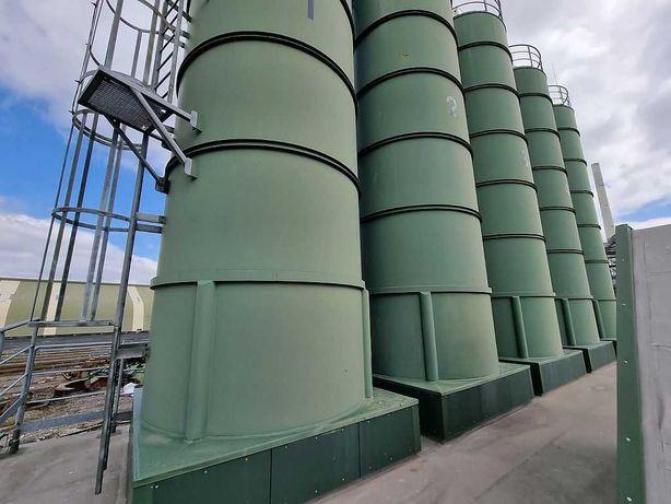 Węzeł betoniarski / betoniarnia / silosy cementowe / fabryka betonu