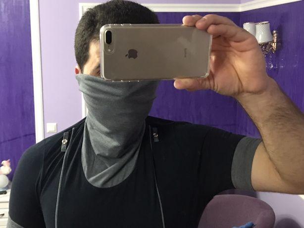Футболка с воротником для Карантина вместо маски Новая Недорого!