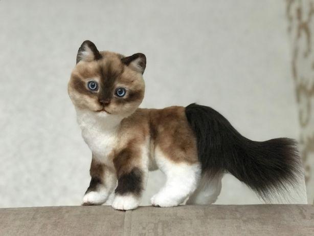 Подарок - реалистичная кошка - игрушка ручной работы