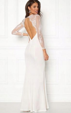 Biała długa suknia ślubna MAKE WAY S WYSYŁKA GRATIS!