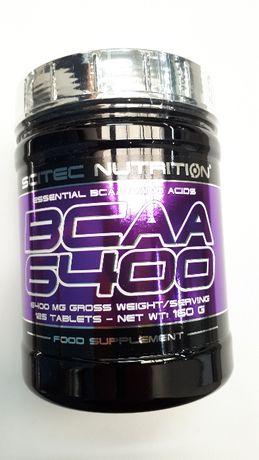 Bcaa 6400 aminokwasy rozgałązione 125 tabletek firmy Sci Tec