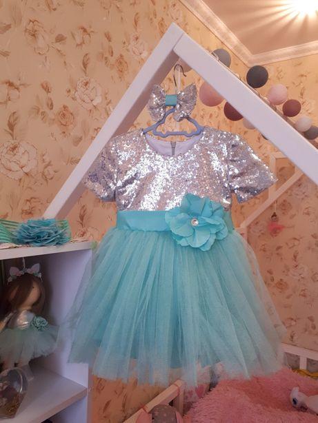 Красивое платье,святкова сукня, на праздник фатин пайетки плаття