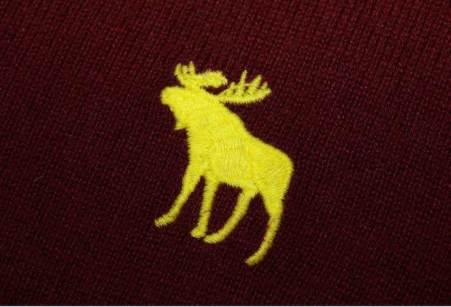 Sweter Abercrombie & Fitch kaszmir A&F sweterek M v-neck HCO Hollister