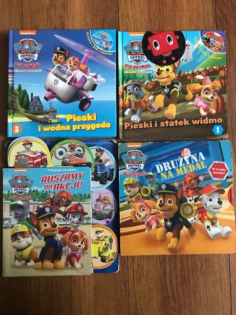 Książki książeczki Psi patrol 4szt + 2 płyty