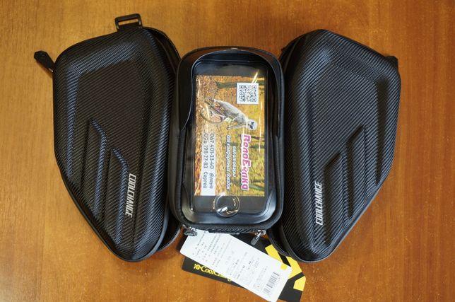Нарамная сумка CoolChange, велосумка с отделом под смартфон, на раму