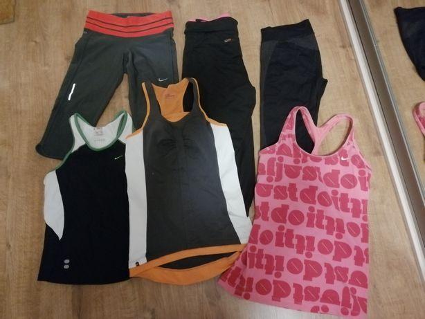 Stroje fitness Nike legginsy koszulki rozm.S