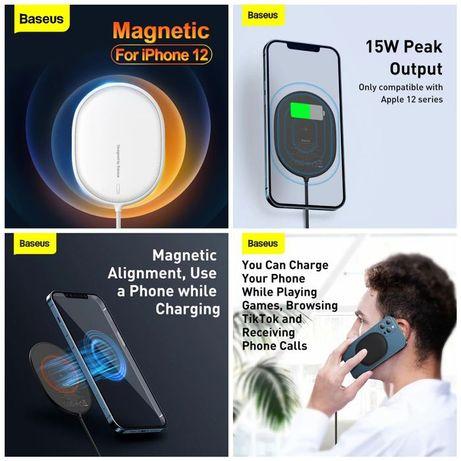Carregador Magnético S/ Fio iPhone - Baseus - Preto / Branco - 24h