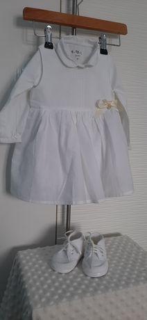 Biały komplet dla dziewczynki