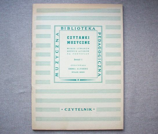 Czytanki muzyczne, łatwe utwory na fortepian, E. Altberg, 1951.