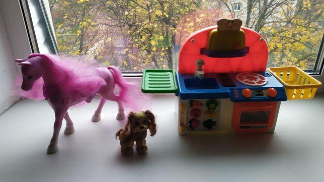 Собака, лошадь, Дом, кухня, домик Киддиленд, Kiddieland