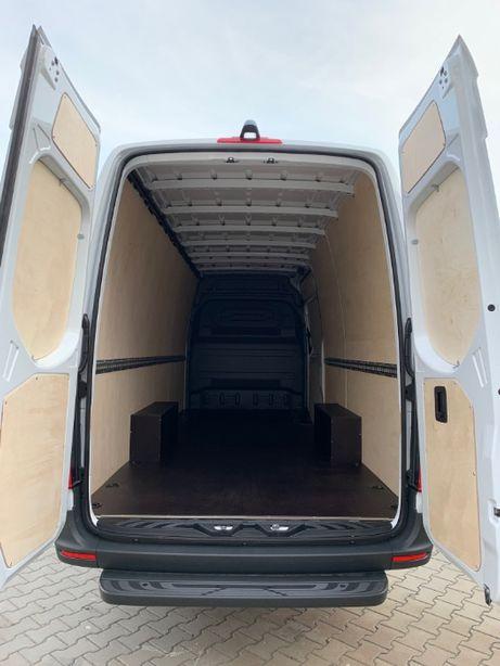 Zabudowa busa furgonu Mercedes Sprinter L4H2 zabudowa sklejka