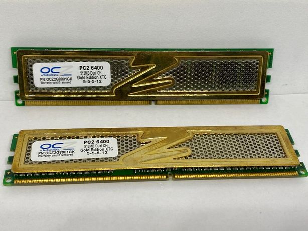 Модуль памяти OCZ Gold Edition XTC PC2-6400 512MB Dual CH