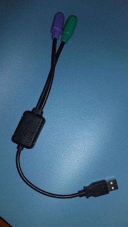 Adaptador rato e teclado para usb