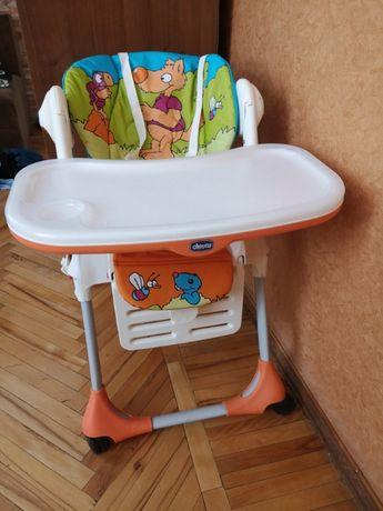 Стульчик, столик для кормления Chicco, 4-х колесный