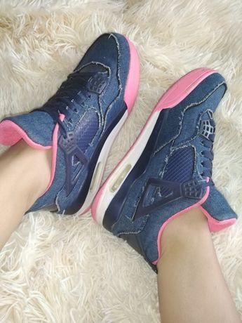 Женские кроссовки с воздушной подошвой, джинс