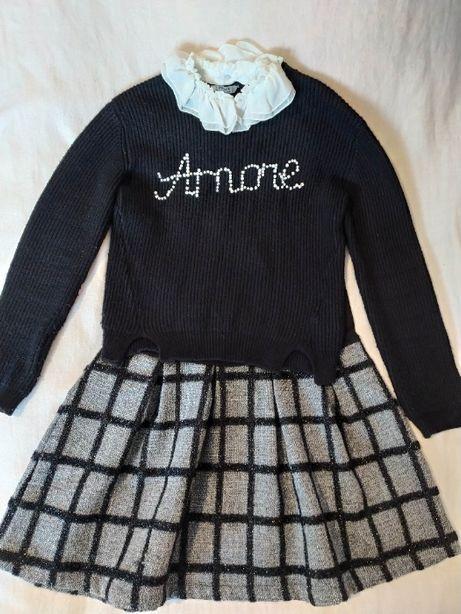 Платье и свитер для девочки рост 134