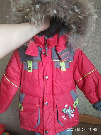 Зимний комбинезон-куртка для мальчика
