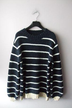 Sweter włochacz wełna+alpaka rozmiar S-M-L