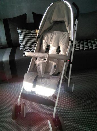 wózek spacerowy Smiki, typu parasolka; beżowo-szary