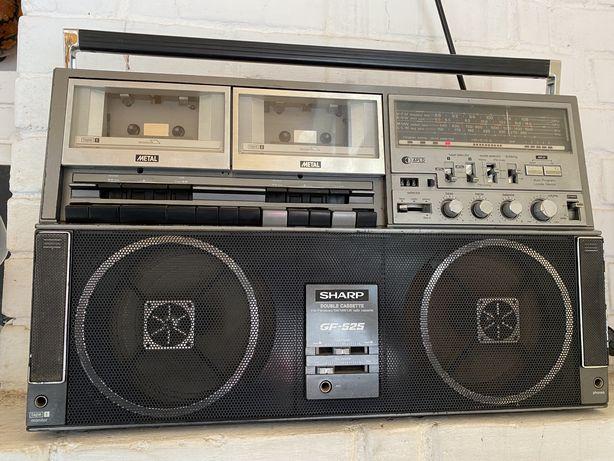 Магнитола,  магнитофон кассетный. Шарп. Sharp.
