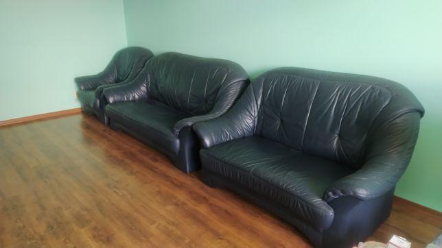 Продам кожані дивани 3+2+1 з Німечини
