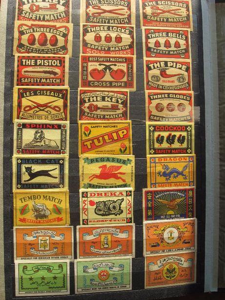 Etykiety zapałczane filumenistyka kolekcja