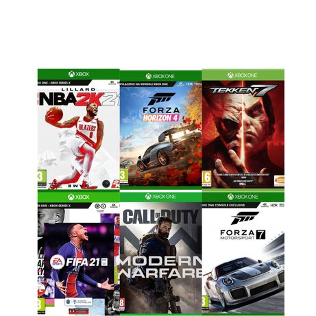 Gry Xbox one,Minecraft,Forza Horizon 4,Call of duty,maneater,Saint row