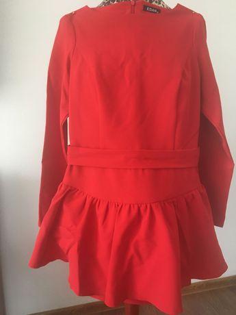 sukienka czerwona , xs, długi rękaw