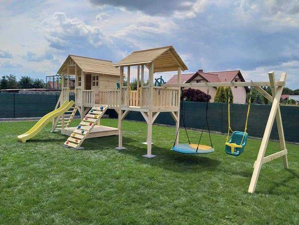 Plac zabaw,domek dla dzieci drewniany. MONTAŻ GRATIS