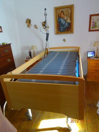 Cama Artic. motorizada colchão anti-escaras + compressor para colchão