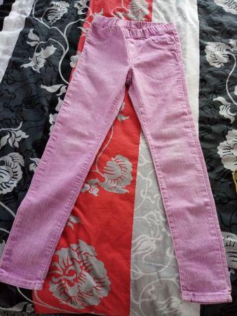 Spodnie jeansowe dla dziewczynki 134 fiolet/róż