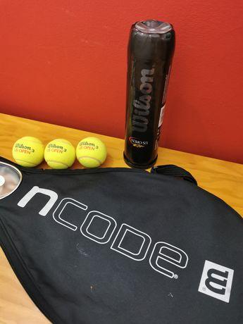 Capa raquete de ténis + bolas (WILSON)
