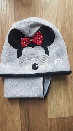 Nowa czapka plus komin myszka Minnie