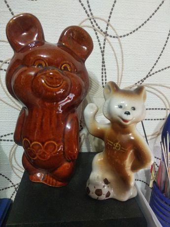 Керамические фигурки, мишки