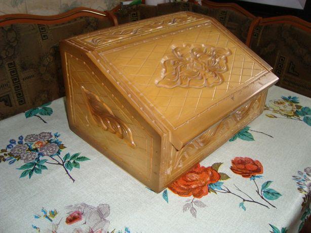 Хлебница деревянная ручной работы